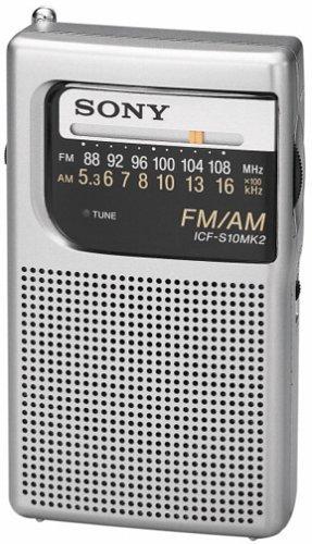 New ICF-S10MK2 Pocket AM/FM Speaker Radio Receiver for Sony free shipping(China (Mainland))