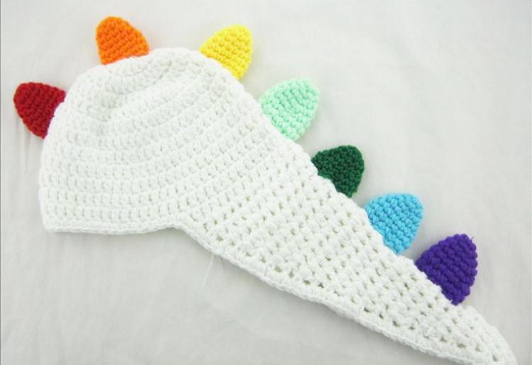 NewBorn Baby Dinosaur Pattern Hat Knitted Cotton Crochet  Grils Boys Knitted Cotton Handmade Crochet Photography Props Hat (China (Mainland))