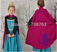 1 pcs Retail ,Free Shipping Frozen Elsa Coronation Dressing Dress With Wrap Cape Cloak For 3-8 Year Kid Girl,5pcs/lot,J162
