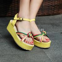 HOT sale fashion summer women sandals bohemia platform knot women shoes size 41 42 43 free shipping