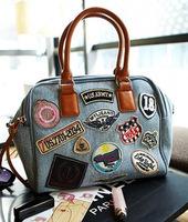 bolsas femininas 2014 bags handbags women famous brands casual bag women handbag MIX badge denim bags women messenger bags