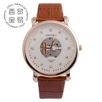 Free shipping 2014 mk fashion watch genuine leather stainless men watches 2014 LB8865B-03