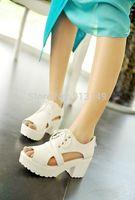 HOT sale fashion summer women sandals lace up zipper thtick sole platform women shoes size 41 42 43 free shipping