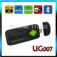UG007 Android 4.2.2 Stick Mini PC Dual Core Android TV box RK3066 Cortex A9 1GB RAM 8GB ROM 3D WiFi Bluetooth tv dongle