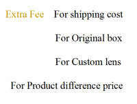 Extra Fee for original box or shipping cost or  Product difference price