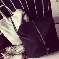 Bags Female New 2014 HOT Fashion PU leather backpack middle zipper black/white bagpack women backpack school bags shoulder bag