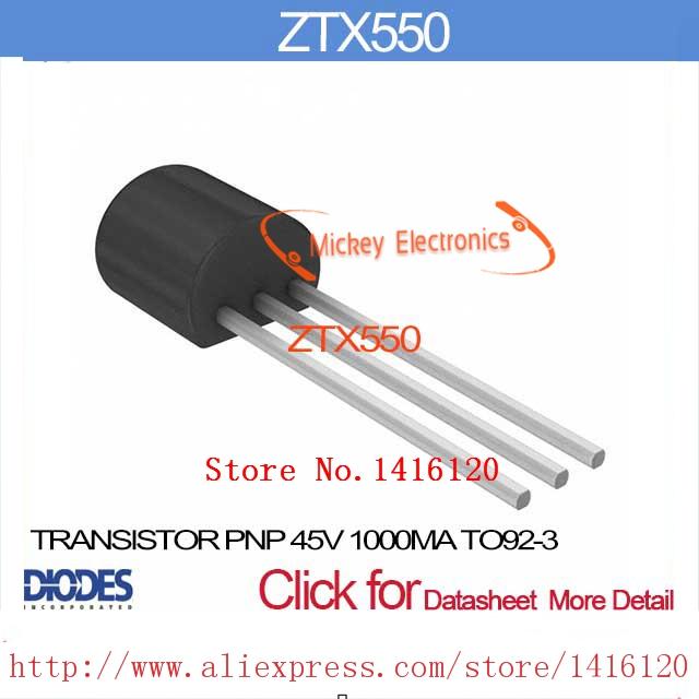 ZTX550 TRANSISTOR PNP 45V 1000MA TO92-3 ZTX550 550 X550 TX550(China (Mainland))