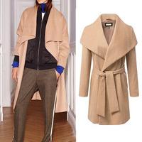 women's cashmere coat 2014 NEW woolen coat woman jacket winter overcoat solid clothes Woollen coat female long trench outwear