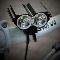 Freeshipping Hot 5000Lumen 2x CREE XM-L U2 LED Cycling Front Bicycle bike Light Lamp Headlight Headlamp Set