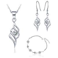 2014 New Fashion Jewelry Set 925 Sterling Silver Joyas Crystal Nigerian Wedding African Beads Jewelry Sets Wholesale Ulove T161