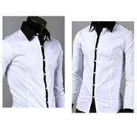 2014 New Men's Dress Shirt Camisa Social Masculina Luxo Slim Fit Cotton Algodao Long Sleeve Casual Shirts Size P/M/G/GG XXL