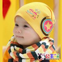 3 colors Children Beanies! baby new born boys caps print headphones winter hat  spring autumn cotton hip hop cap ETJ-A0170