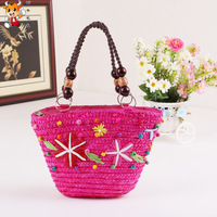 Parent-child bags rustic 2014 summer beach bag one shoulder handbag candy color female brief