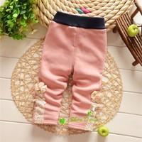 Autumn and Winter Baby Girls Warm Leggings ,Babys Lace Flower Thick velvet Leggings Trousers,VK1431