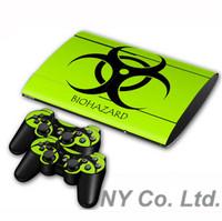 Gaming Decal Skin Sticker Cover F PS3 Super Slim 4000 set Skin Green 0070