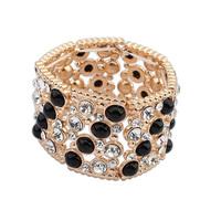 2014 Luxury Brands Wide Stretch Resin Stones Alloy Bracelet&Bangle Excellent Bracelet Jewelry For Women Retail&Wholesale