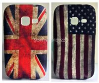 2 X Retro USA/UK Flag Design Soft Skin Cover Case For Samsung Galaxy ACE Duos S6802