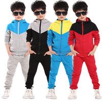 2014 new autumn children clothes outwear kids 2 pcs sport suit boys clothing set hoodie+pants autumn baby casual sets
