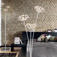 Hot sale!Luxury brief dandelion flower crystal floor lamp marriage bedroom bedside lamp