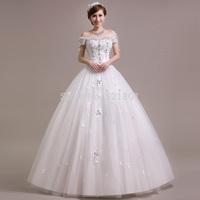 Crystal Bridal wedding dress 2015 summer fashion new Korean version of the retro diamond Qi sexy lace wedding dress vestido 431