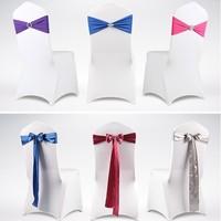 18cm silks and satins bandeaus chair back satin back yarn decoration flower ribbon bow chair back ribbon bandage