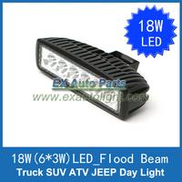 Free Shipping 1PCS 18W LED Work Bar Light Spot Off Road Automobile Car Truck ATV UTV Fog Driving DRL Light Lamp