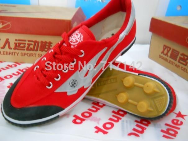 Amphiaster football shoes red football training shoes canvas gel nails football shoes red(China (Mainland))