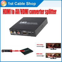 HDMI to AV HDMI converter splitter for  XBOX360 PS3 etc.display HDMI&RCA at the same time
