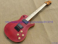 Wholesale - Customised headstock shape  New Arrival Red luxury tiger flame Electric Guitar High Quality OEM Free Shipping