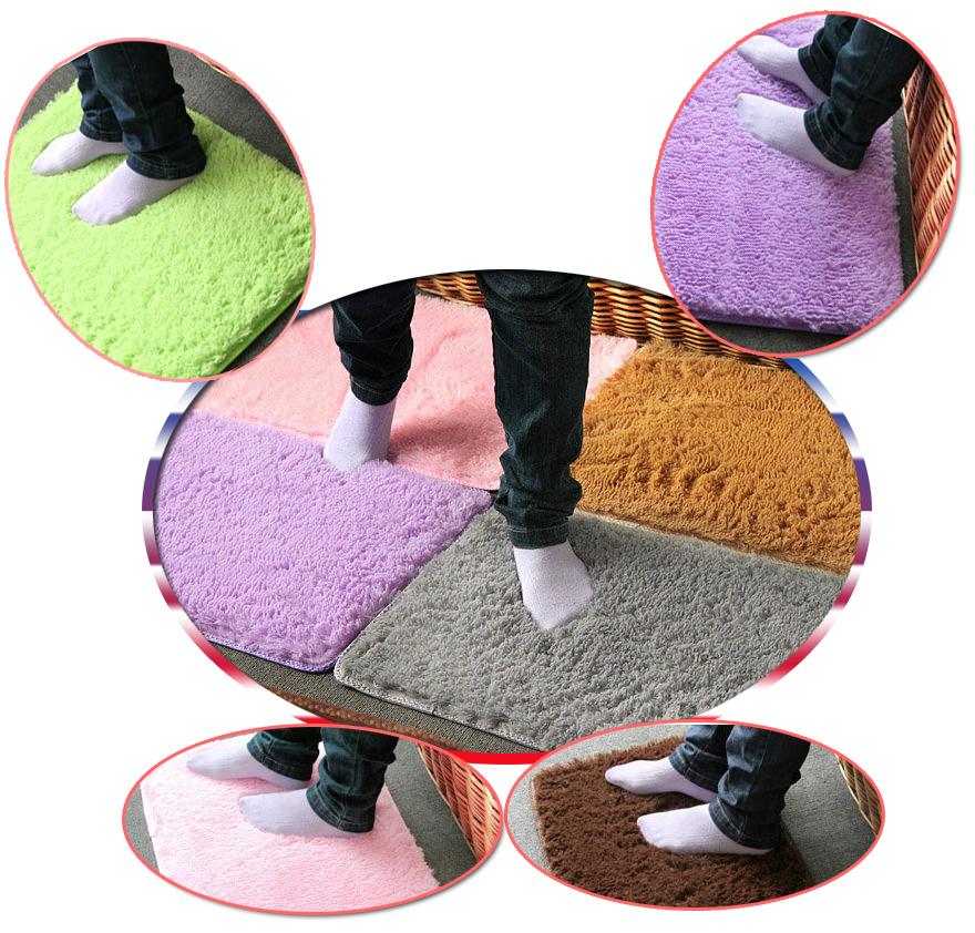 microfibra veludo lavável capacho não- deslizamento esteira de banho tapete absorvente pavimento tapete para o banheiro e sala transporte da gota(China (Mainland))