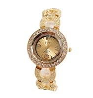 Wholesale Fashion Gold Plated Watch Women Ladies Crystal Quartz Dress Watch Wristwatches TW044