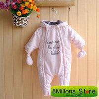 BB#77  Europe's big Baby winter jumpsuit Increasing wind baby overalls baby rompers 2014 winter