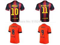 Customize! 14/15 season Women B arcelona jersey top quality soccer uniforms Size S M L