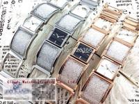 New Fashion Steel Crystal Quartz Watches Rose Gold Silver Luxury Top Brand Flash Drill Dress Watch Women Bracelet Free Shipping