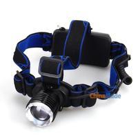 CREE XP-E Q5 1 LED Headlamp Headlight White 3-Mode + Charger + Battery