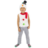 12139 Christmas costume party boy or girl's snowman vest