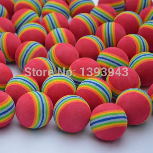 Wholesale 10pcs Golf equipment indoor exercise rainbow golf ball Free shipping(China (Mainland))