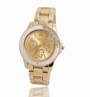 Wholesale Fashion Gold Plated Watch Women Ladies Crystal Quartz Dress Watch Wristwatches TW043
