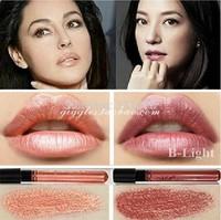 2014 New 1Pcs Waterproof Elegant Meatl shimmer Brown Color Lip gstick matte inferior smooth liquid velvet lipstick Long Lasting
