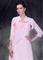 Graceful 3/4 Sleeve Chiffon Wedding Bolero/Jacket  Bridesmaid Jacket Bridal Wrap AL6717