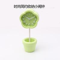 Free shipping small alarm clock gift fashion school students spend desktop models DIY storage pen small alarm clock