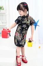 Floral bayi qipao girls ' dresses kid cina chi - pao cheongsam tahun