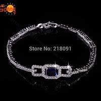 Delicate Fashion shiny bracelet with big blue  Austria Crystal bracelets for women free shipping