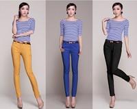 FREE SHIPPING 2014 Hitz brand slim pants women's bound feet pencil pants Casual pants Tight trousers