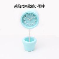 Free shipping small alarm clock gift fashion school student desktop scanning DIY storage mute small alarm clock