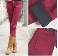 Free Shipping 2014 winter leggings women's fashion thick plus velvet elastic leggings big size trousers Slim pencil pants jeans