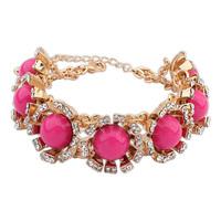 2014 New 7colors Street Beat Vintage Bracelet Gem Rhinestone Bracelet&Bangle Multicolor Alloy Jewelry For Women Retail&Wholesale