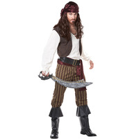 New Lovers Men's Pirate Costume Halloween Party Show Male  dress clothes Men Uniform Cosplay Stage play cloth ,superhero costume