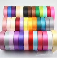 Free shipping 2cm/20mm 25yards/roll  satin ribbon belt gift packing wedding decoration dry crafts 100yards(25yards x 4Roll)