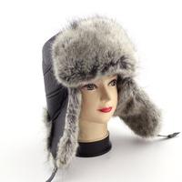 Men Bomber Hats 2014 New Arrival Winter Waterproof Trapper Hat Men Bomber Faux Leather Ear Flap Hats Free Shipping
